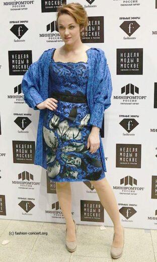 Мария Берсенева приняла участие в показе Николая Красникова Moscow Fashion Week