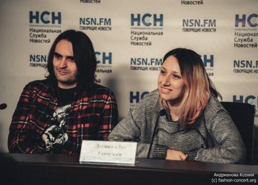 Рок-группа «Louna»: пресс-конференция с рок-музыкантами.
